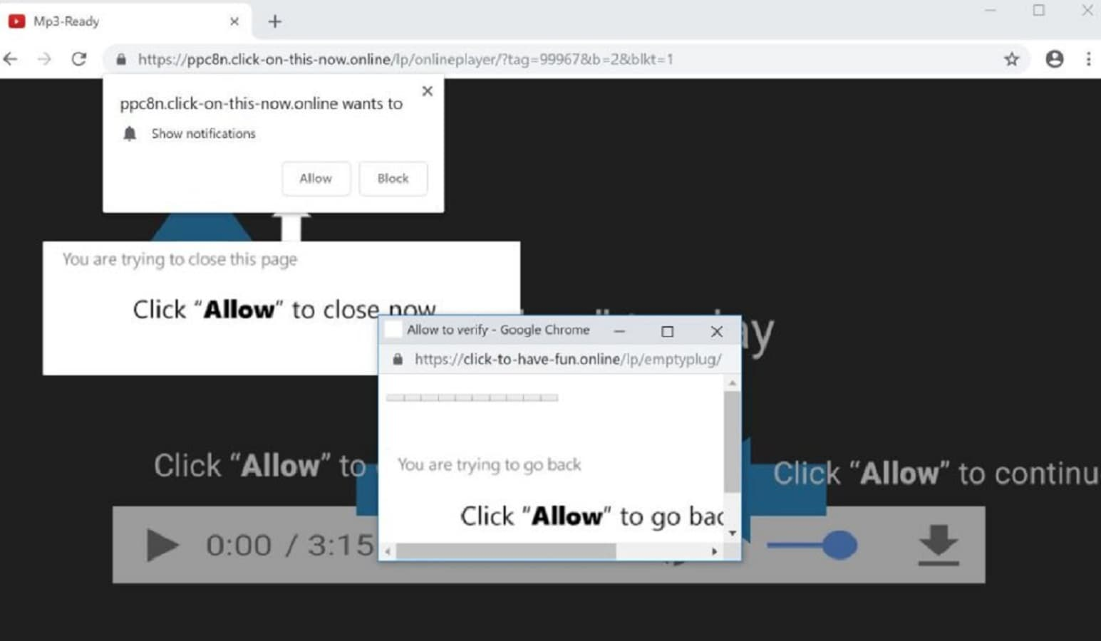 website pop-ups and notifications verywhere