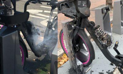 lyft bike fires