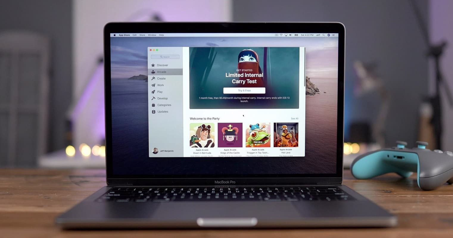 apple arcade on macbook