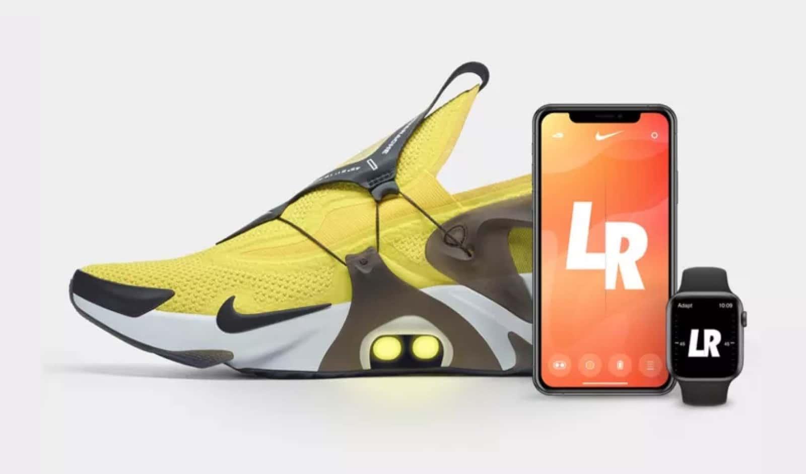 nike huarache self-lacing shoe