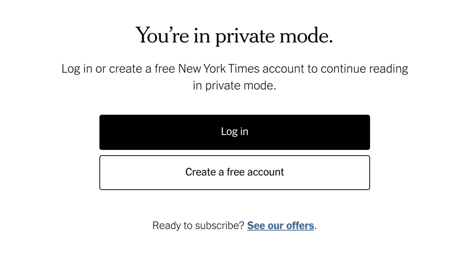 new york times incognito detection