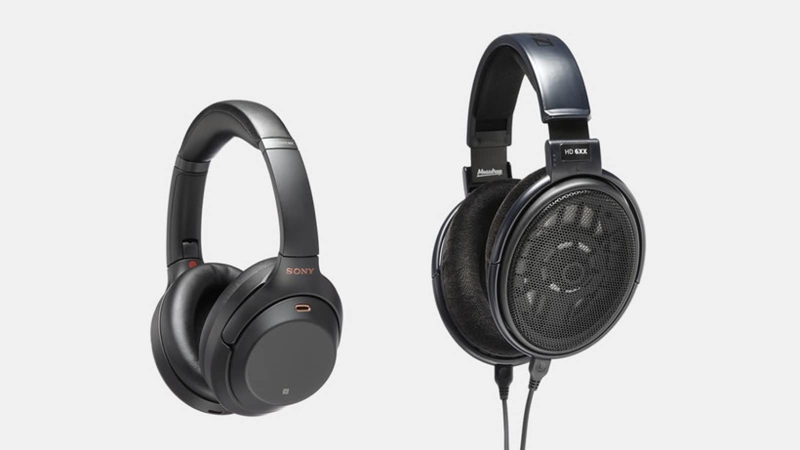 sony and sennheiser headphones