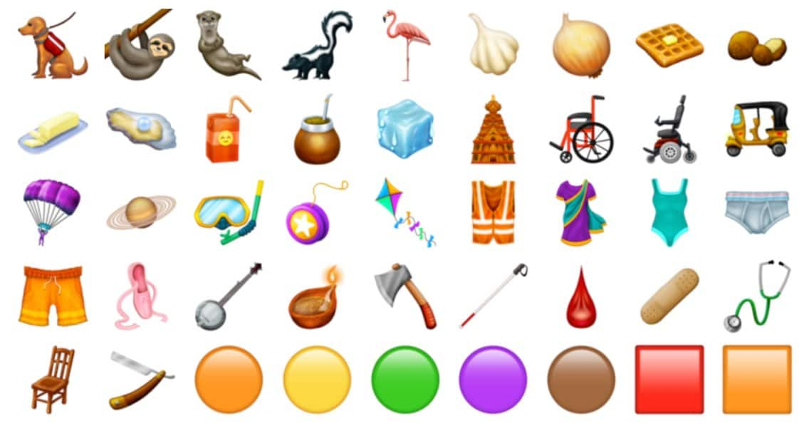 all the new emoji being added in 2019
