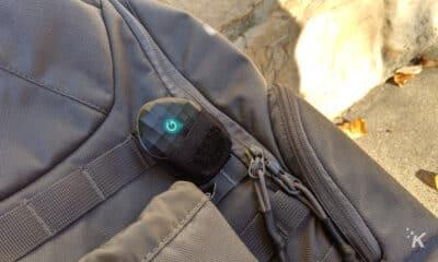 geozilla gps tracker on backpack