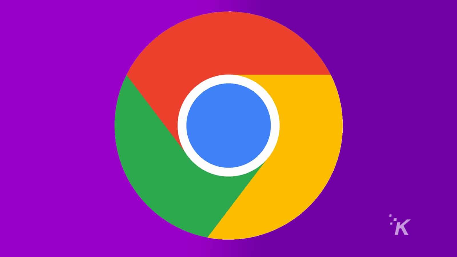 google chrome logo on purple background