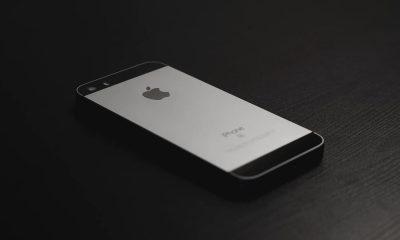iphone se on black background