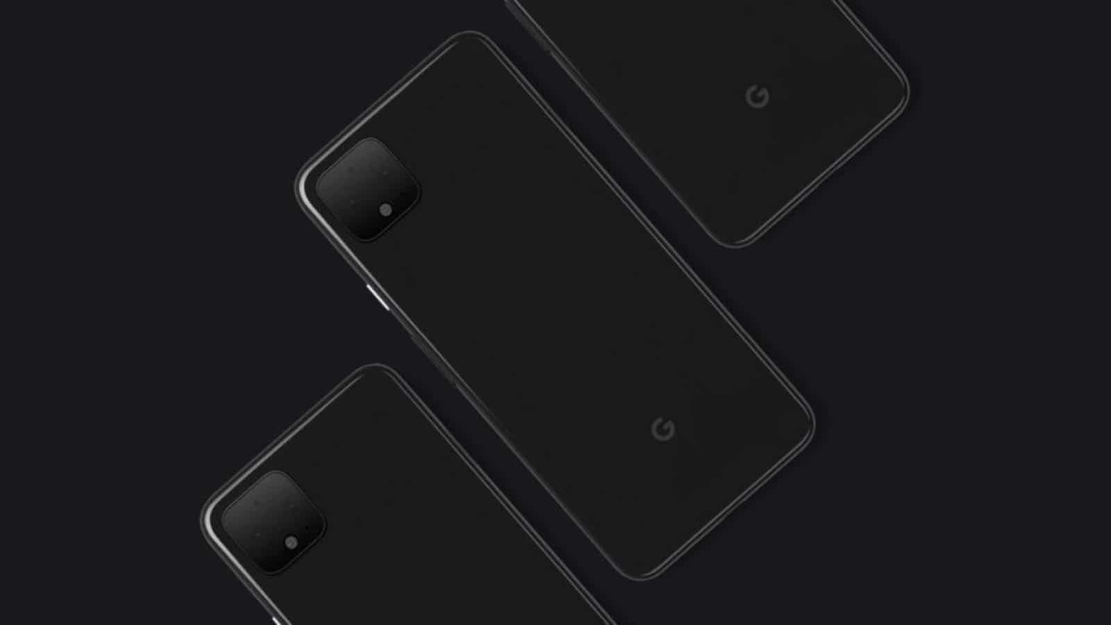 google pixel 4 images on black background