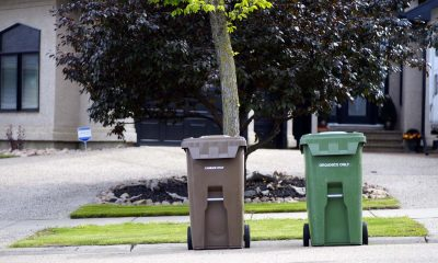 smartcan trash garbage can on street