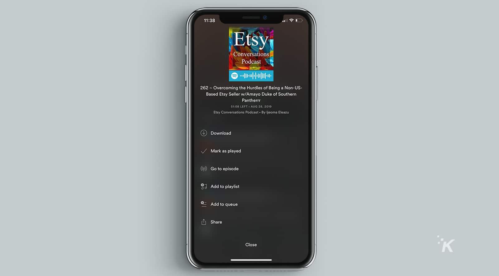 spotify podcasts on playlists
