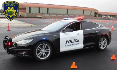 fremont police tesla cop car