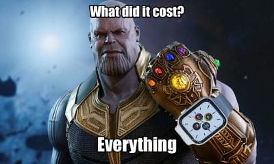 thanos wearing a series 5 apple watch