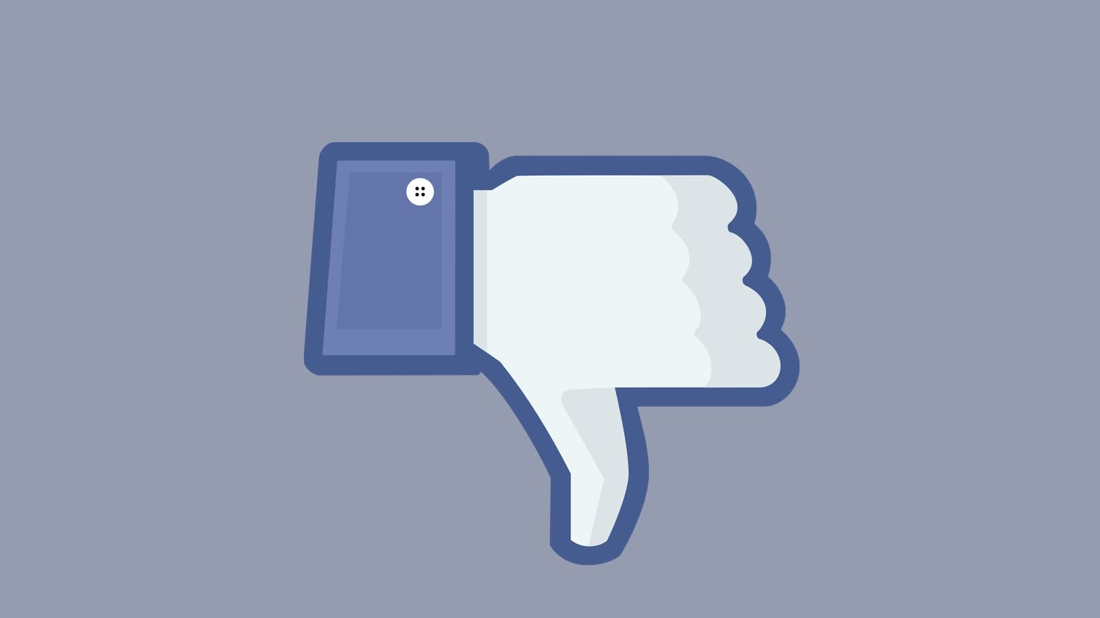 thumbs down icon from facebook