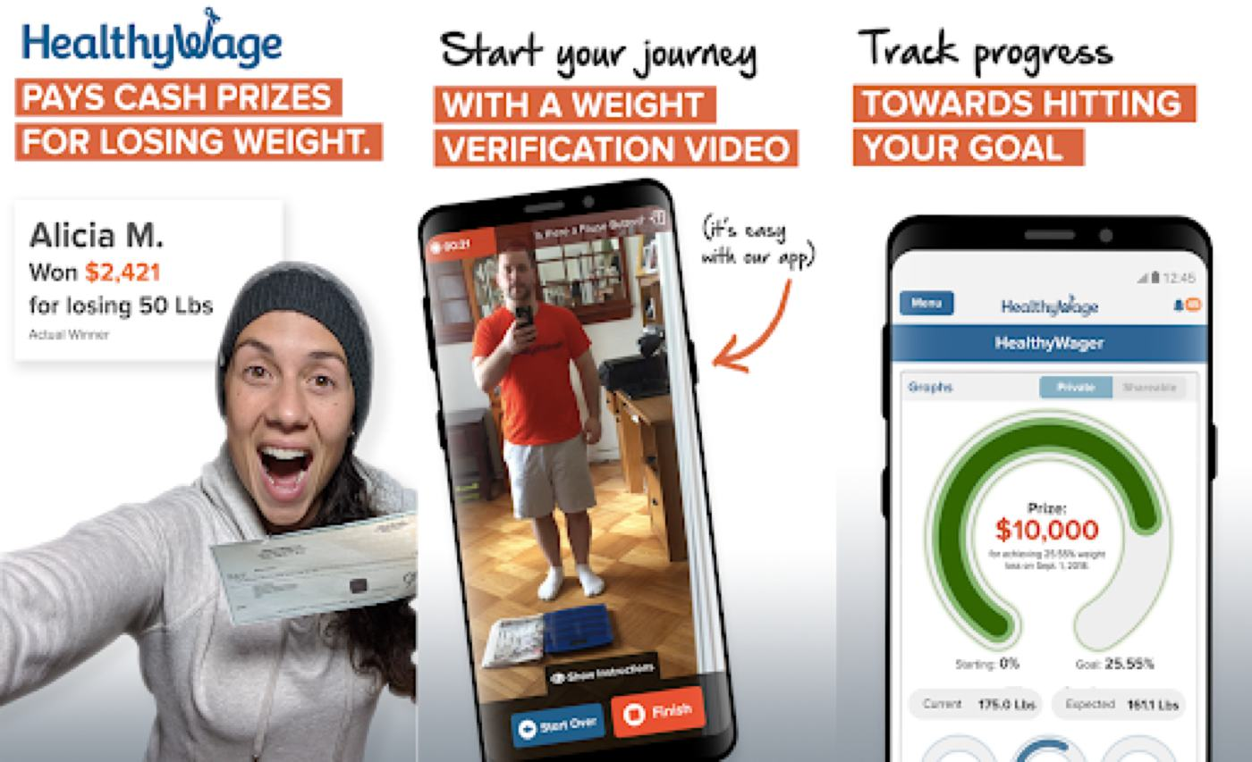 weight loss bet app healthy wage