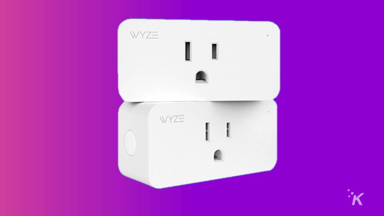 two wyze smart plugs stacked