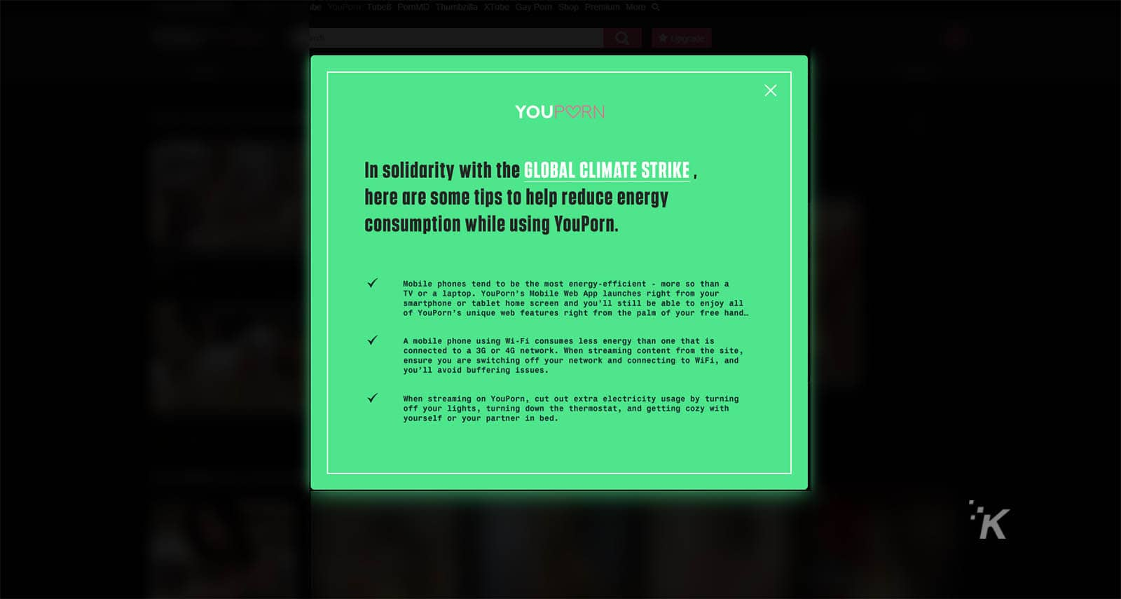 youporn energy saving tips