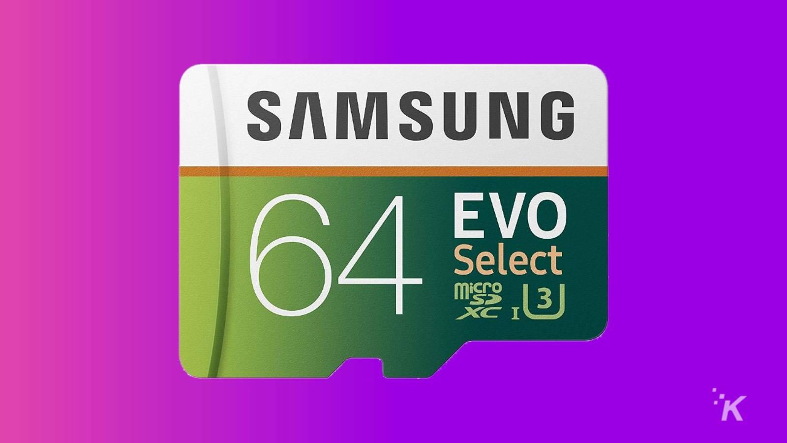 64gb samsung microsd card knowtechie