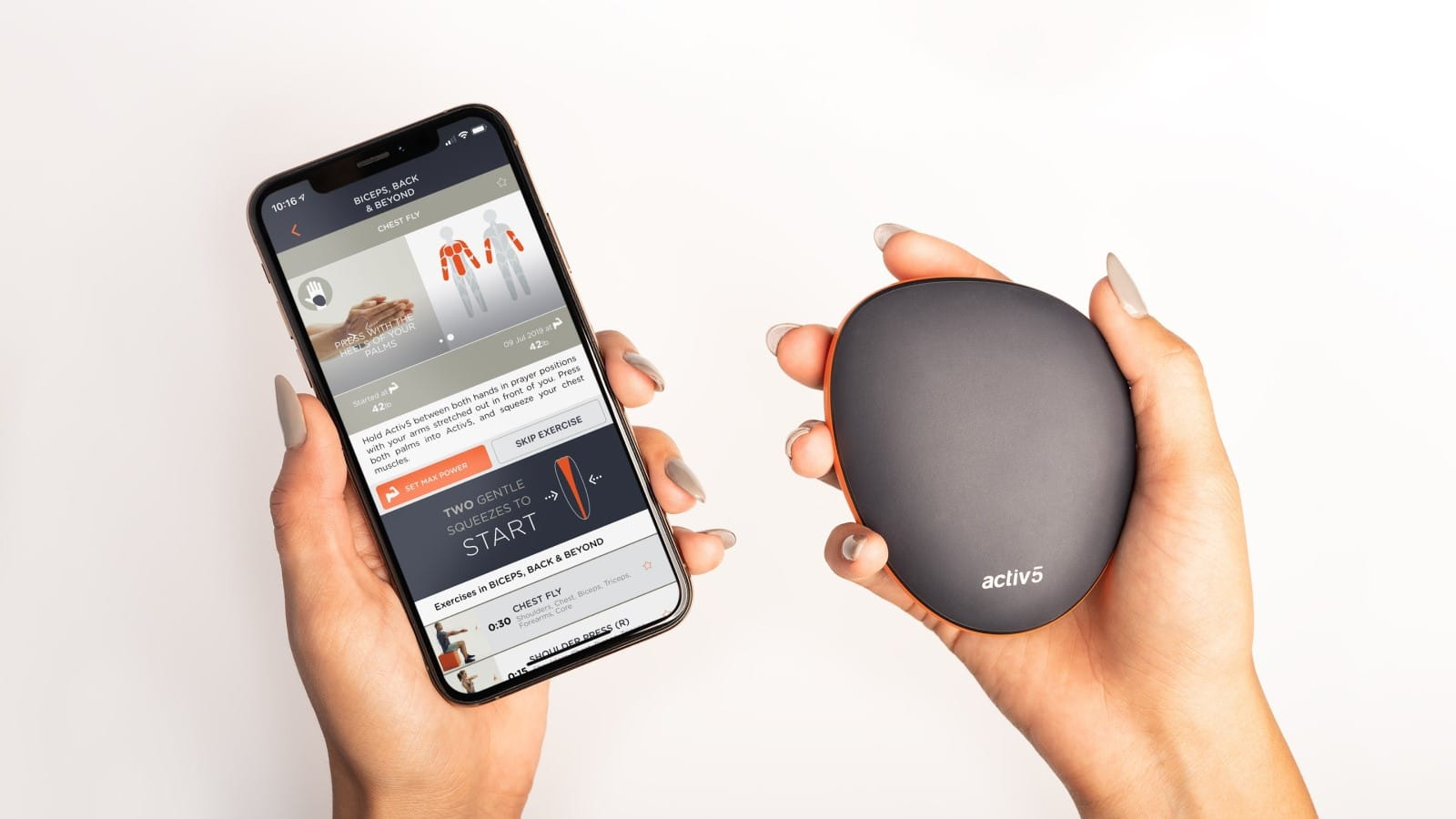 activ5 fitness coaching device and smartphone app