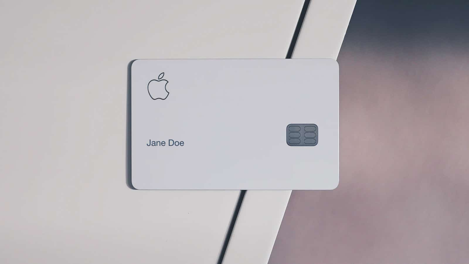 apple card on table