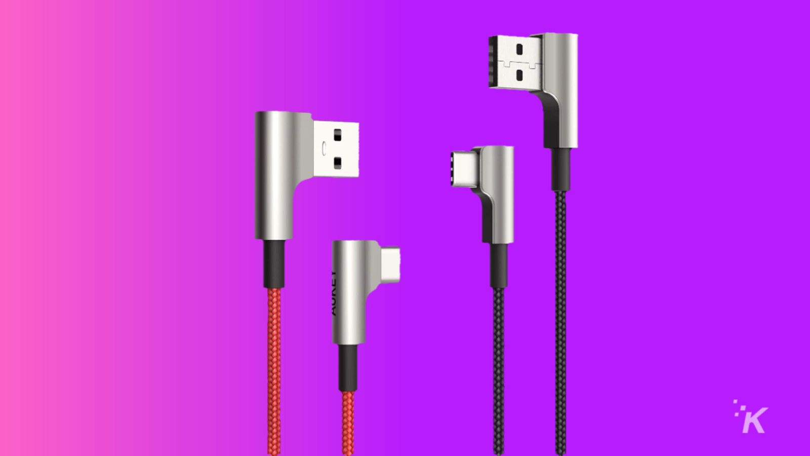 aukey usb c cables 90