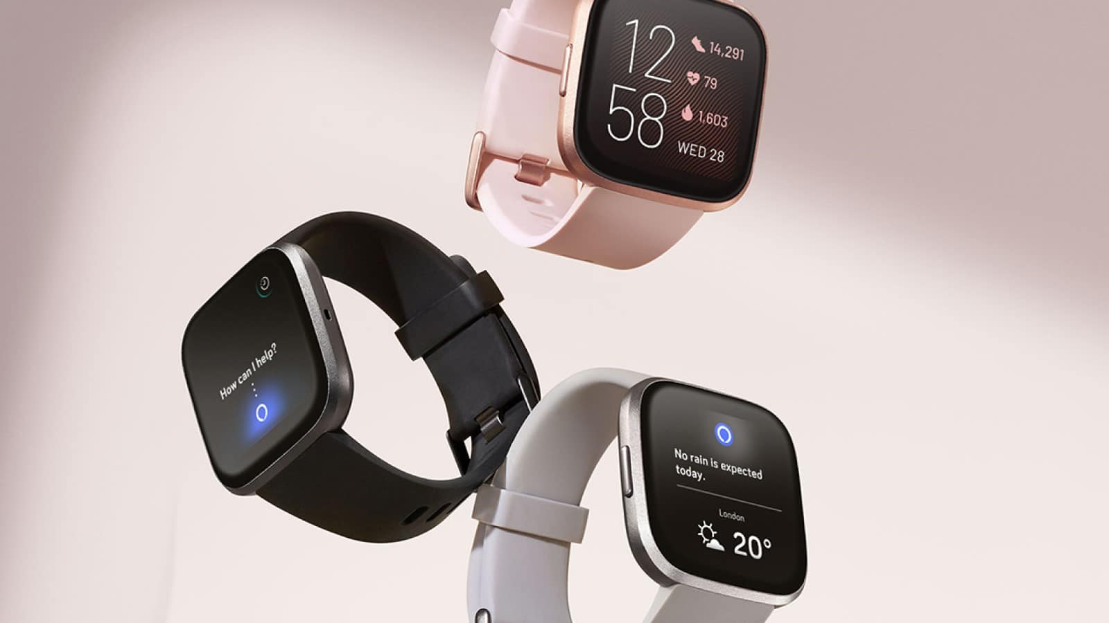 three fitbit versa 2 models