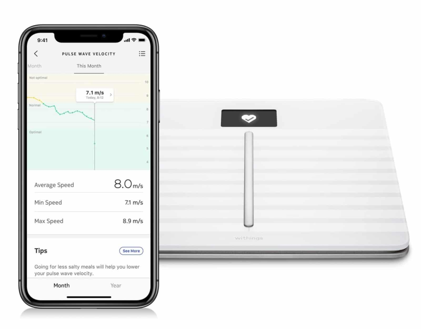 withings smart scale and app