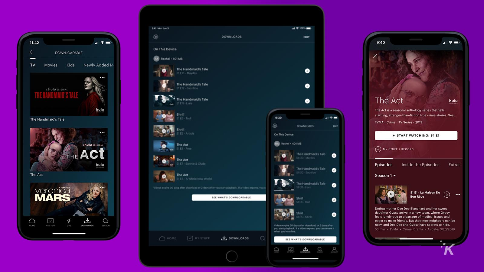 hulu offline downloads