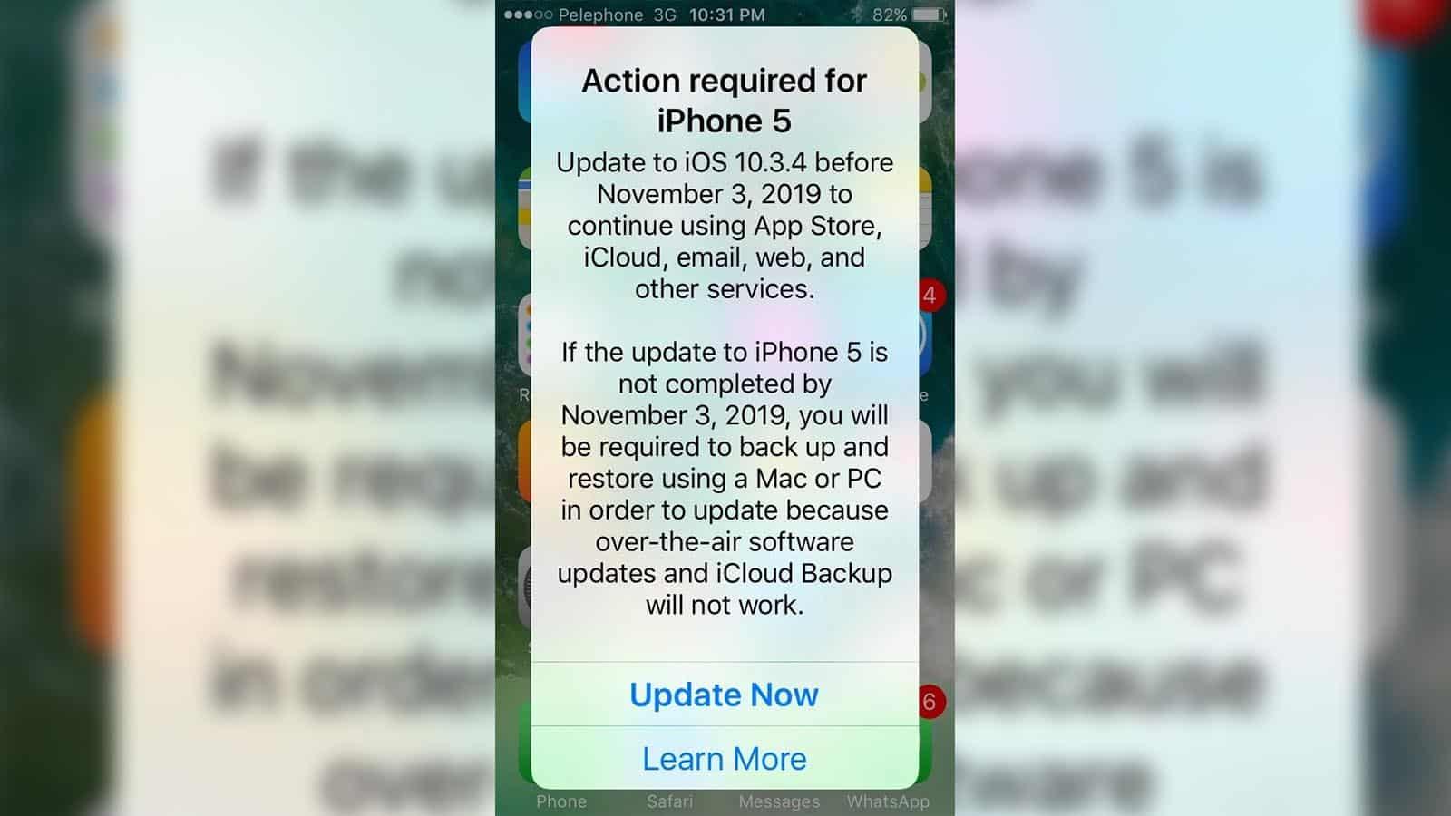 iphone 5 update ios screen