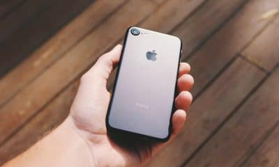 iphone 8 in hand