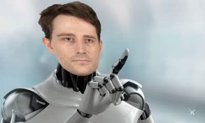 robot with joe's face on it