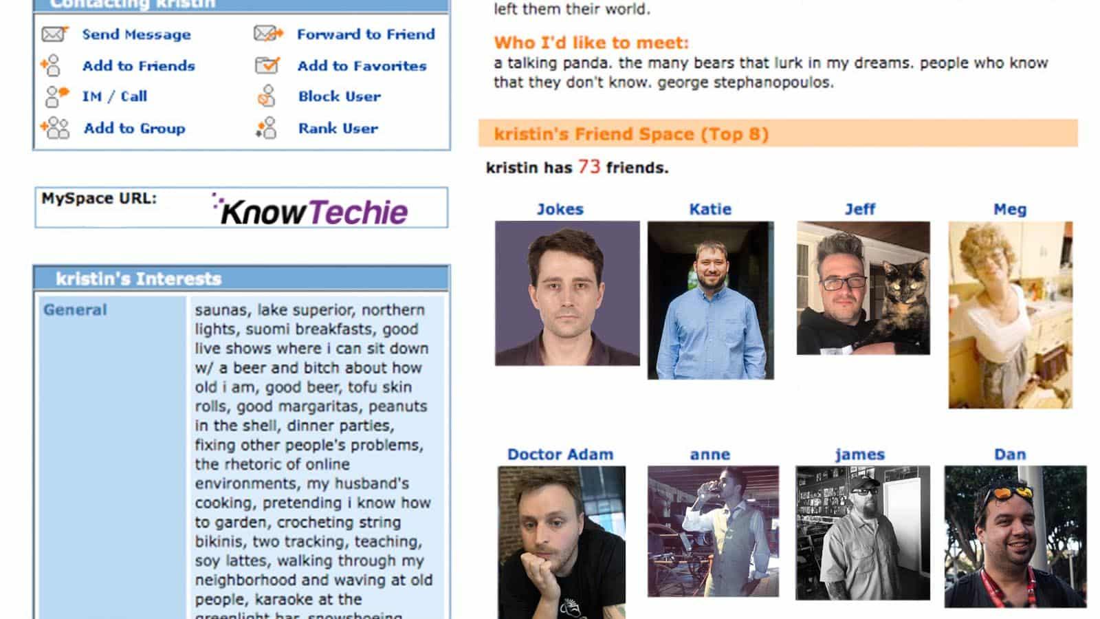 knowtechie roundtable myspace internet 2000s
