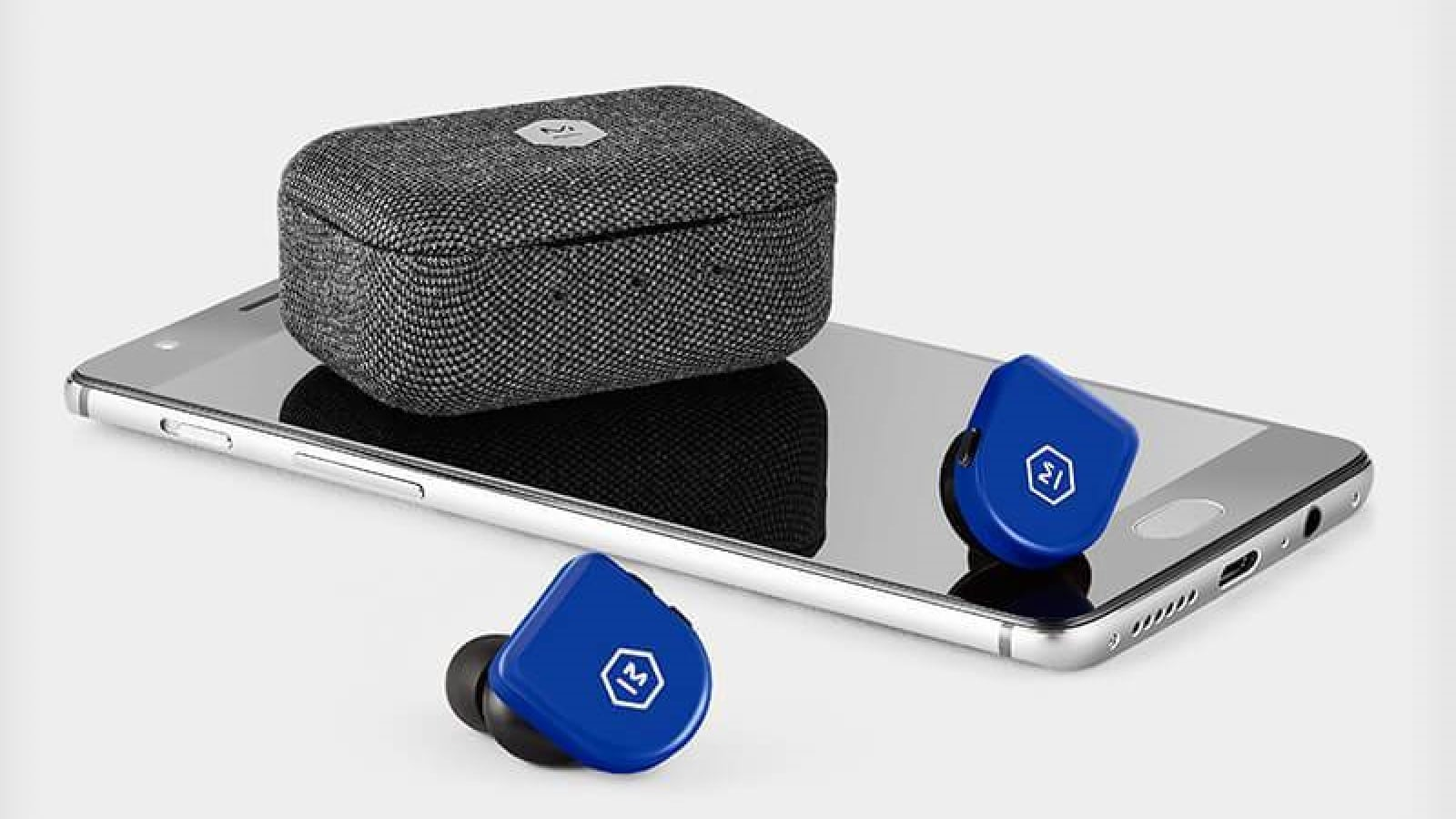 mw07 go earbuds on a smartphone