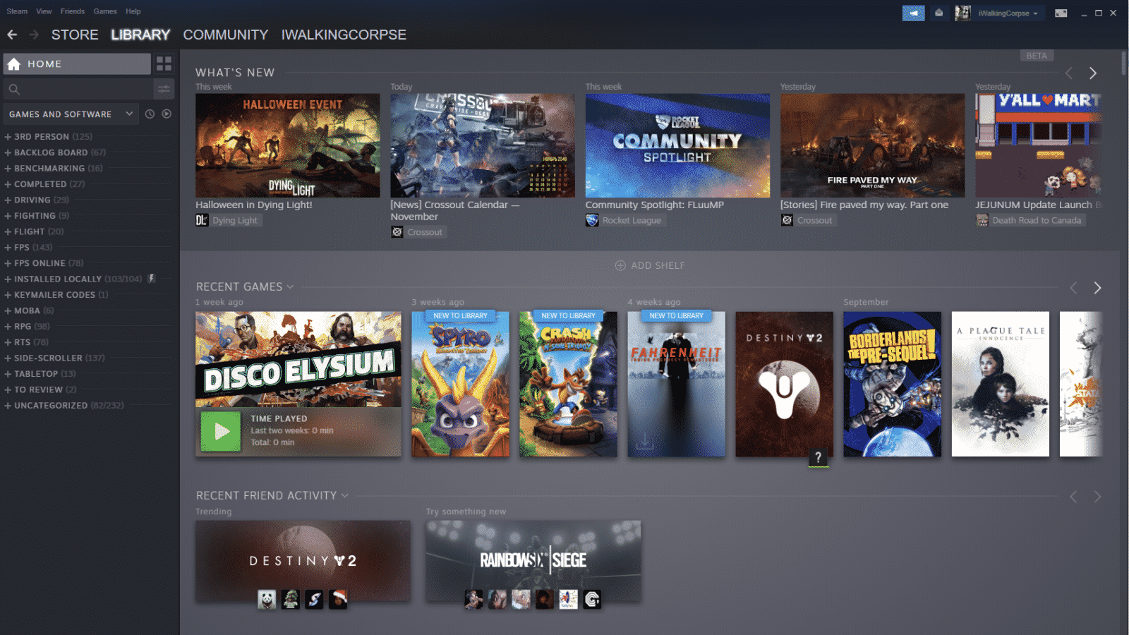 steam library home page