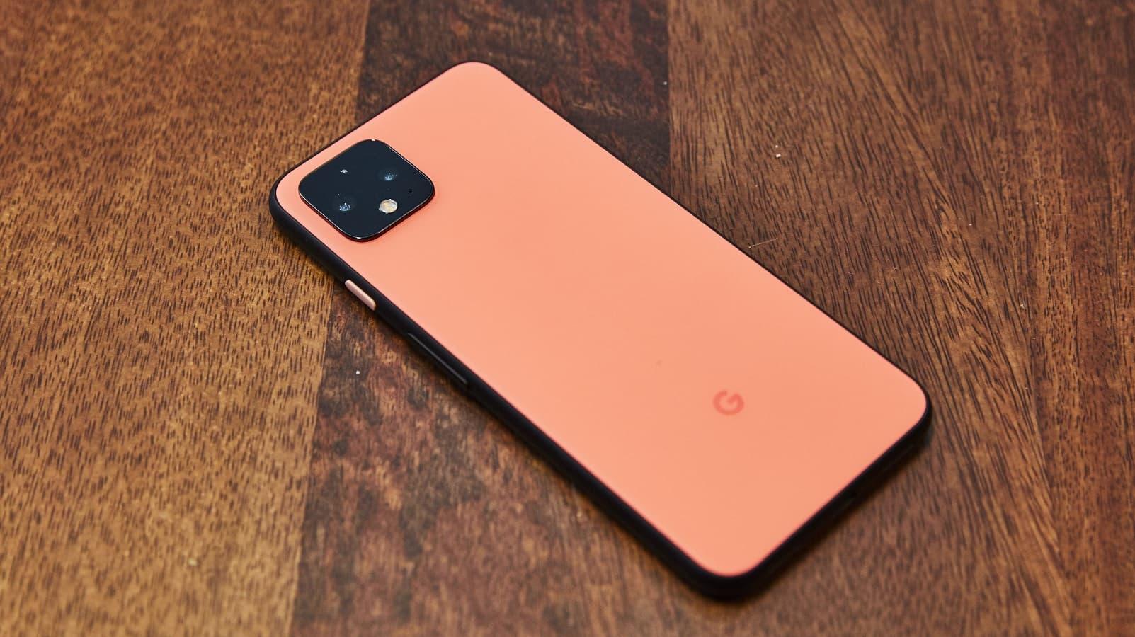 google pixel 4 on table oh so orange