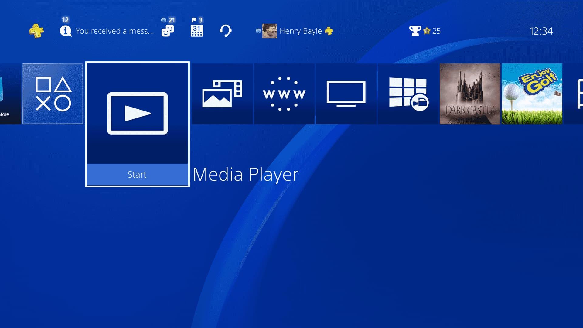 playstation 4 media app mkv files