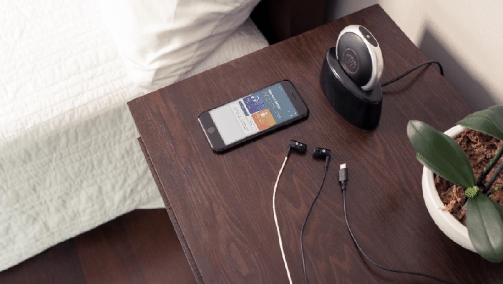 xen headphones on nightstand