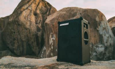 soundboks speaker on beach