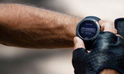 suunto gps watch on wrist