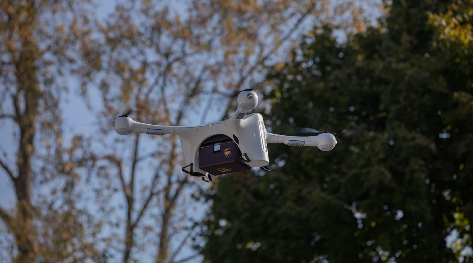 ups drone in flight
