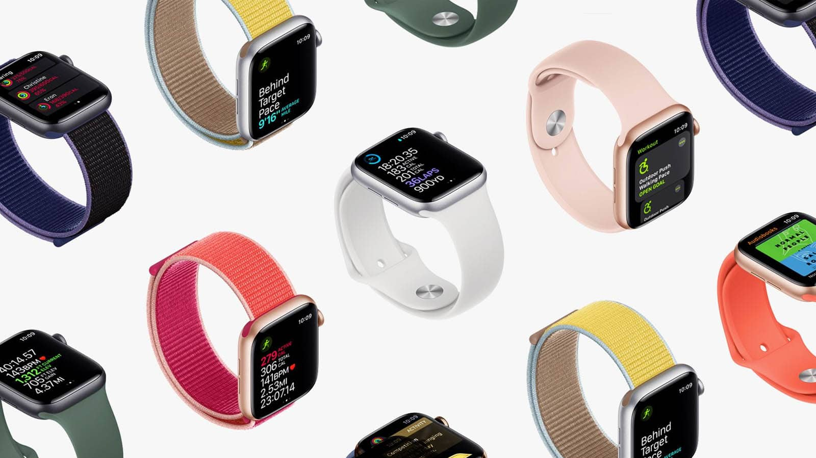 apple watch series 5 on white background