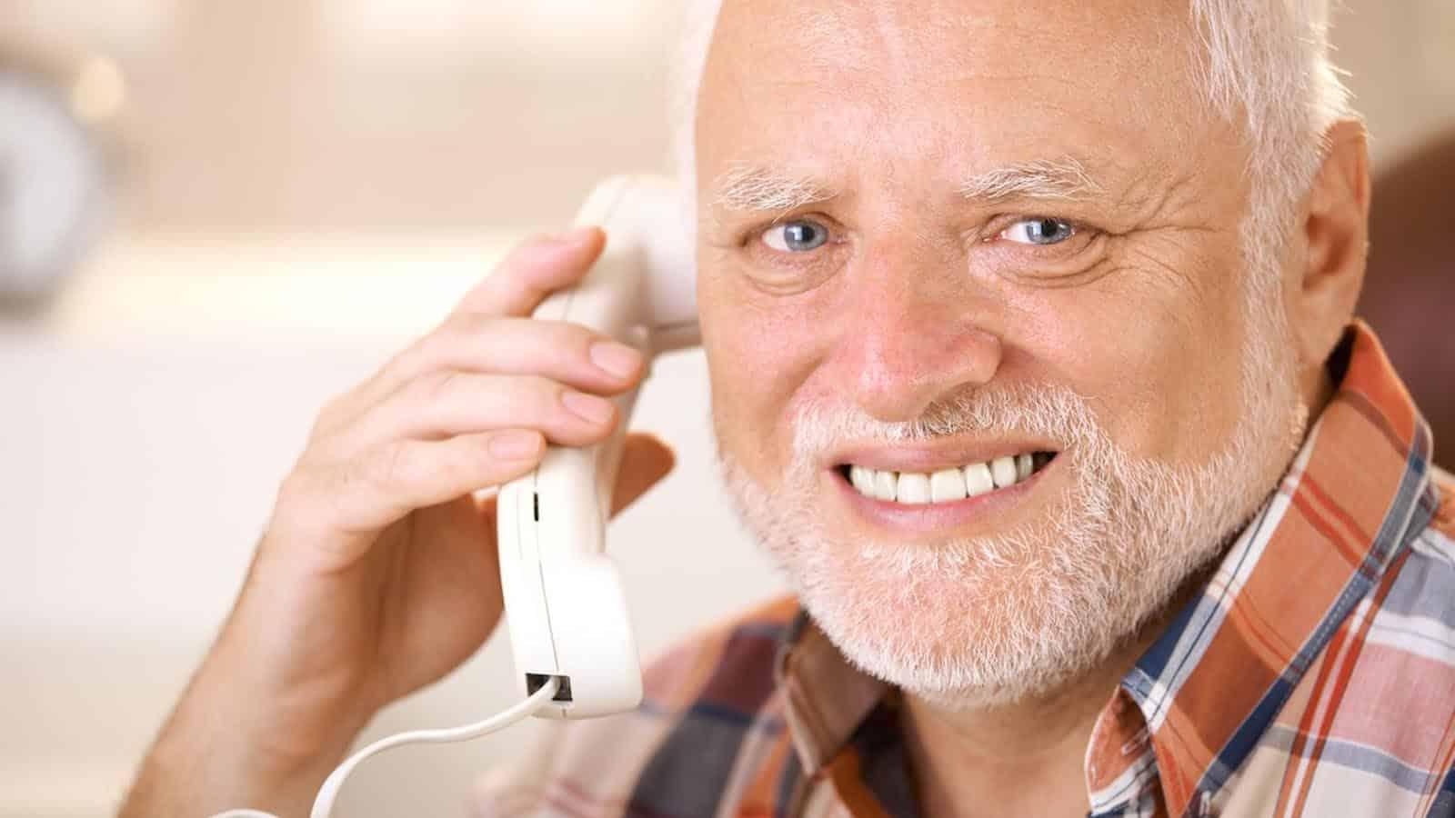 harold on the phone