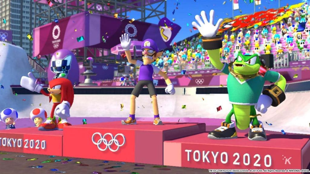 mario and sonic and the olympics 2020 party game