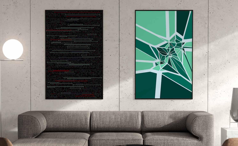 nebula dna wall art