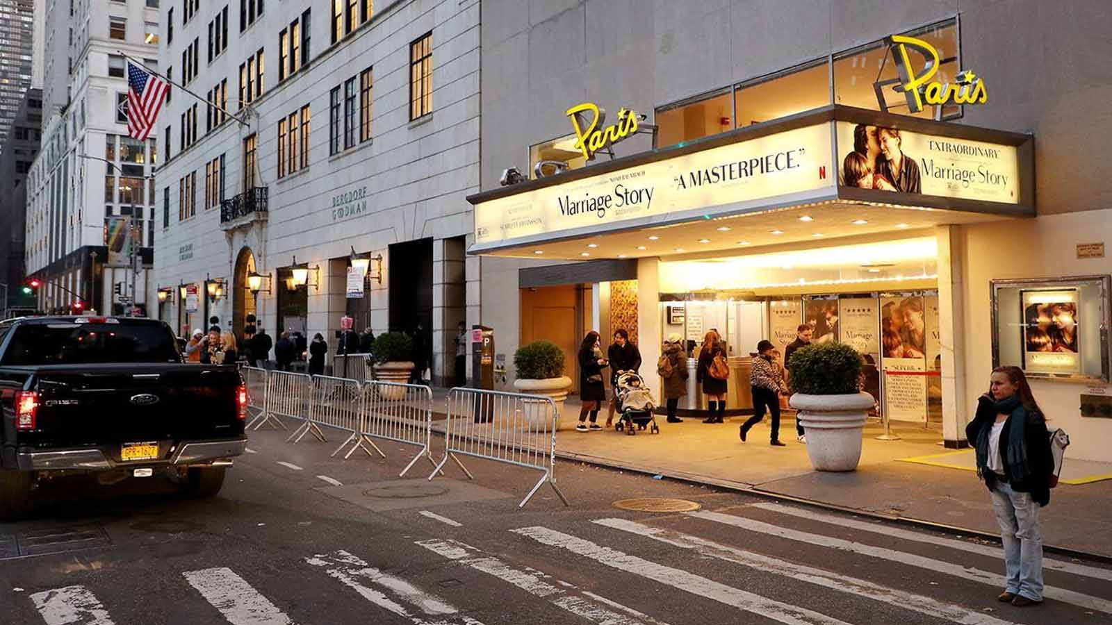 netflix buys the paris theater in new york