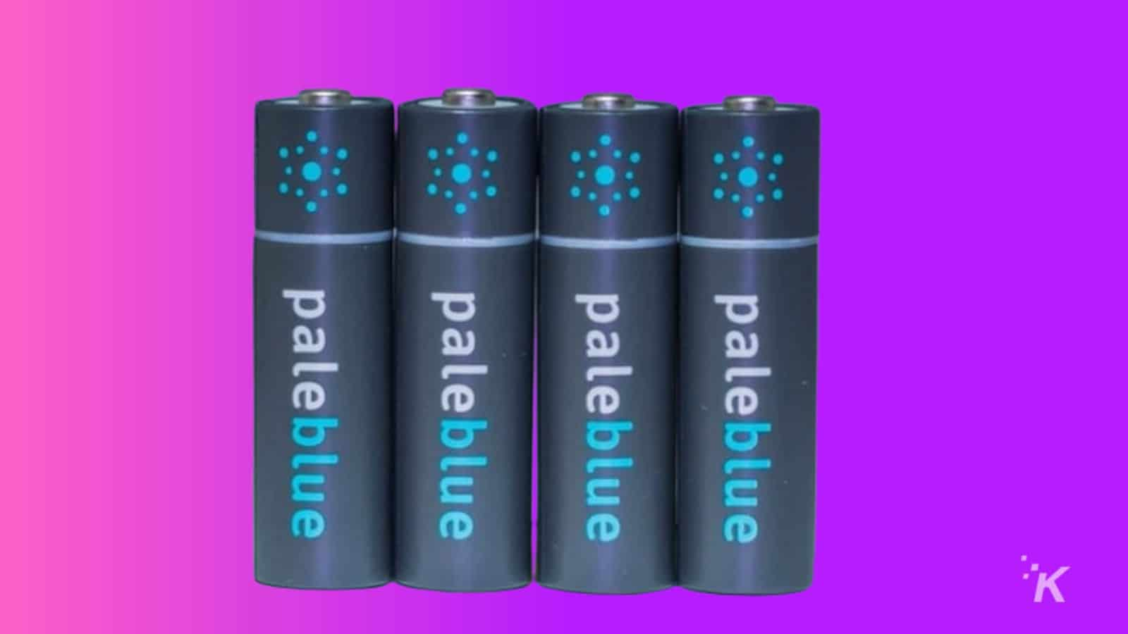pale blue rechargeable batteries knowtechie gift guide