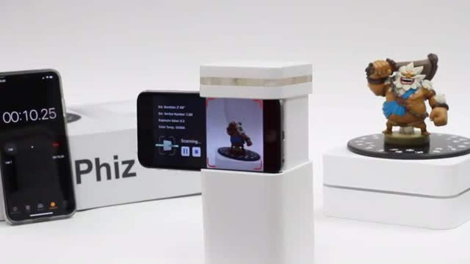 phiz 3d scanner and toys