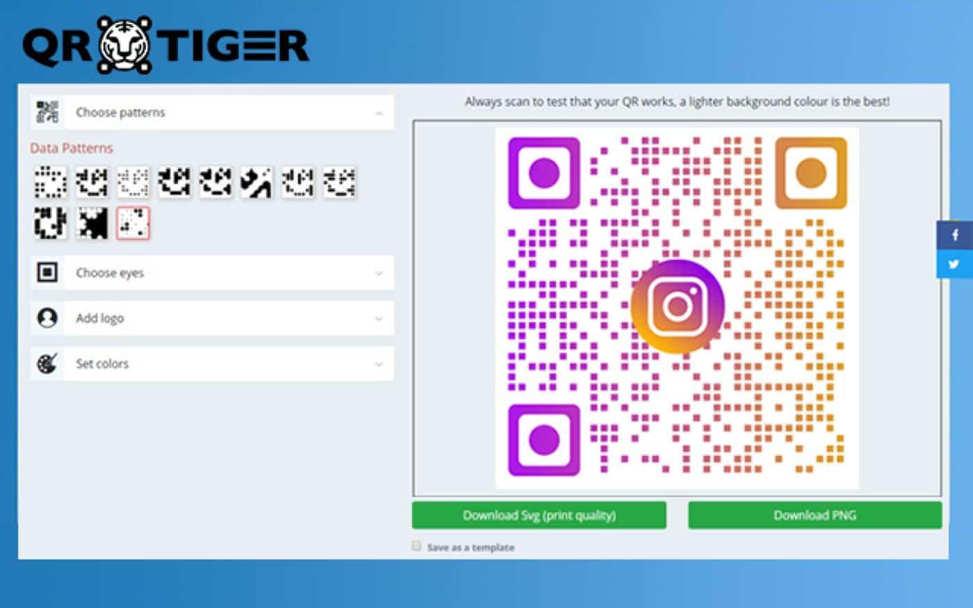 qrtiger qr code app