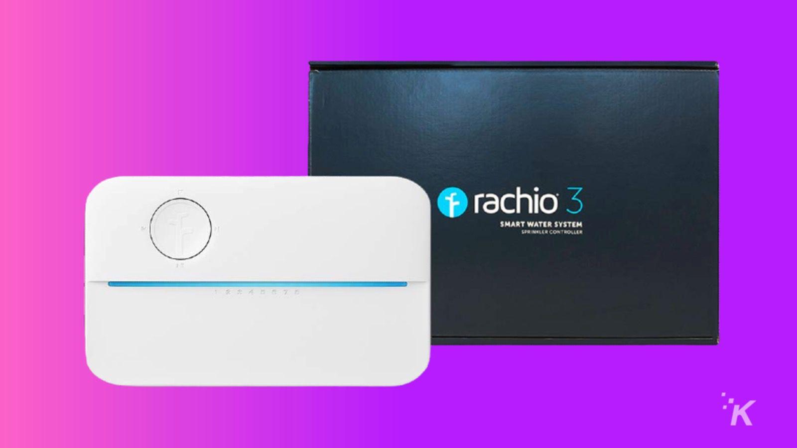 rachio 3 smart sprinkler knowtechie smart home black friday guide