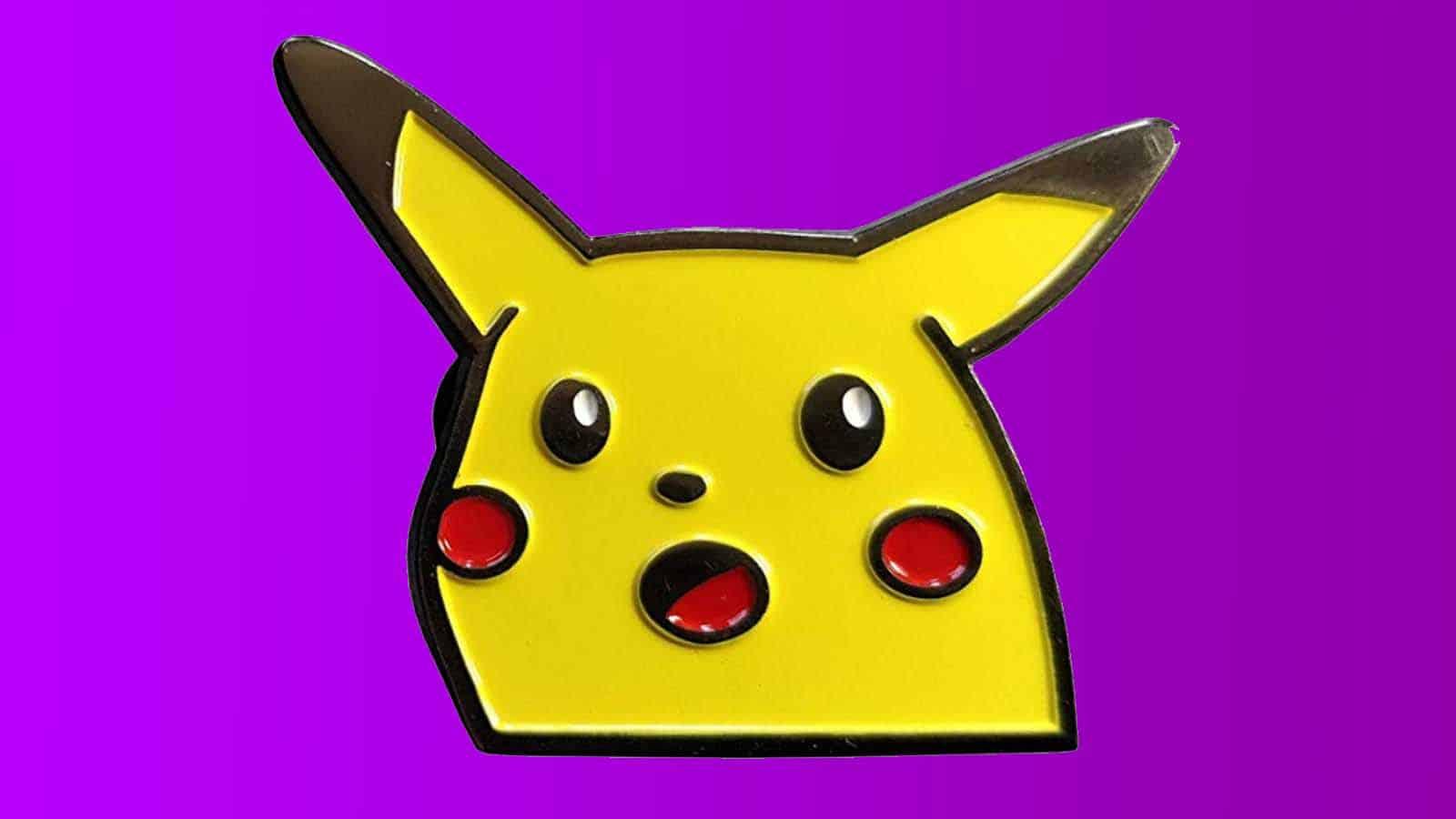 surprised pikachu face meme pendant