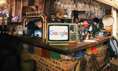 google logo in old tv