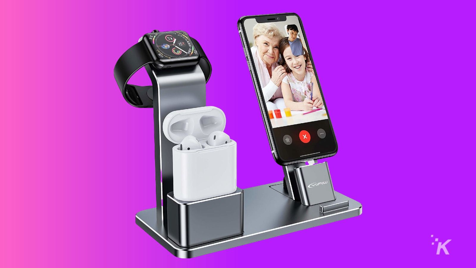 yofe charging stand for apple watch knowtechie gift guide